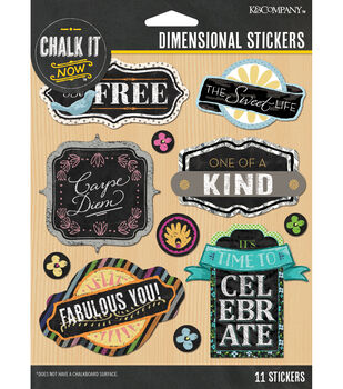 Chalk it Now - Word Dimensional Stickers