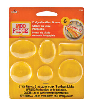 Mod Podge Podgeable Glass Domes 6/Pkg