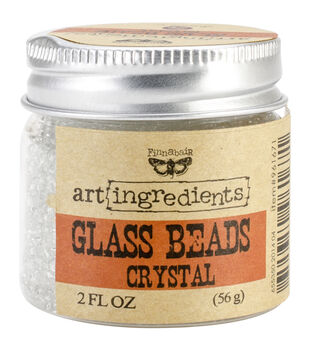 Art Ingredients Glass Beads 2oz-Crystal