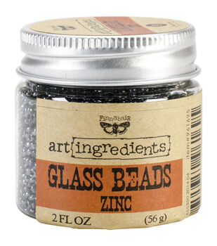 Art Ingredients Glass Beads 2oz-Zinc
