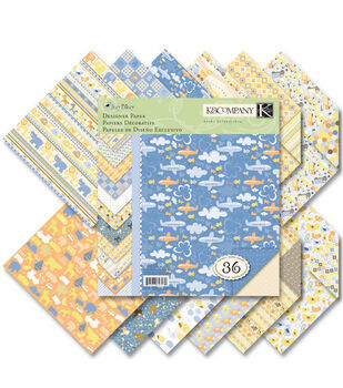 K &Company Simply K Itsy Bitsy Baby Boy Double Sided Paper Pad