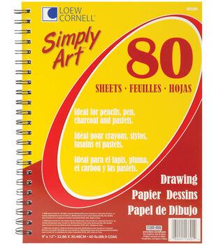 "Simply Art Drawing Spiral Paper Pad 9""X12""-80 Sheets"