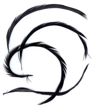 .15 oz. Goose Biots Feathers-Black