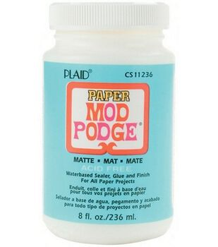 Mod Podge For Paper Matte Finish-8 Ounce