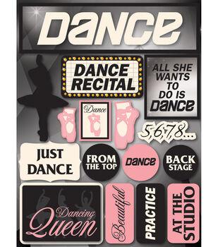 Reminsce Signature Dimensional Stickers-Dance