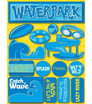 Reminsce Signature Dimensional Stickers-Waterpark