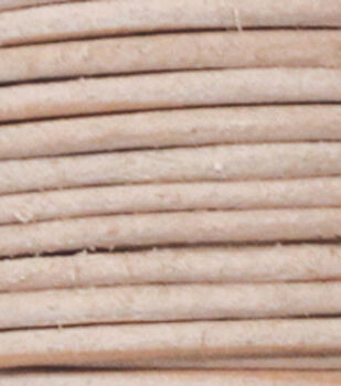 Silver Creek Round Lace 1mm X 25 Yards-Natural