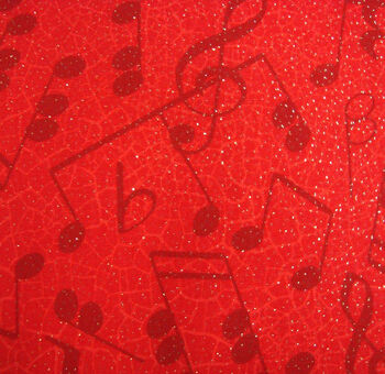 Holiday Inspirations Fabric-Red Tonal Music
