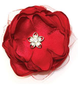 Laliberi Quick Clip Flowers 1/Pkg-Scarlet Red