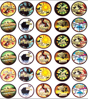 Vintage Collection Bottle Cap Digital Images 65/Pk-Nostalgic Icons