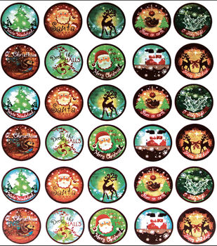 Vintage Collection Bottle Cap Digital Images 65/Pk-Santa Baby