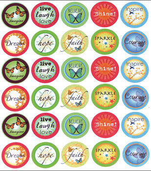 "Vintage Collection Custom Bottle Cap Images 1"" 65/Pk-Inspirational 2"