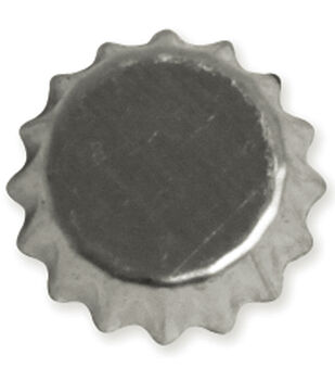 "Vintage Collection Mini Bottle Caps 1/2"" 12/Pk-Chrome"