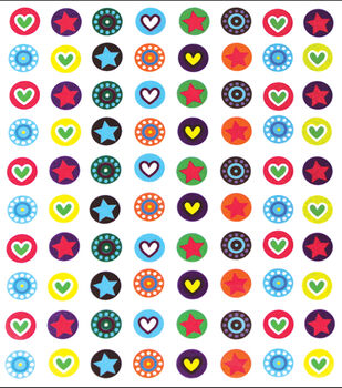"Vintage Collection Mini Custom Bottle Cap Images 1/2"" 176/Pk-Mini Hearts & Stars"
