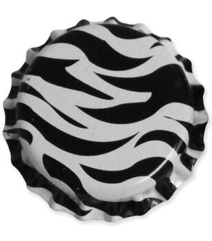 "Vintage Collection Standard Bottle Caps 1"" 12/Pk-Zebra"