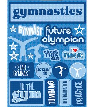 "Signature Dimensional Stickers 4.5""X6"" Sheet-Gymnastics"
