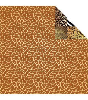 Reminisce Jungle-Icious Giraffe Double-Sided Cardstock