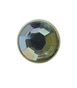 "Jewel Spots, 3/8"", Crystal, 10/pk"