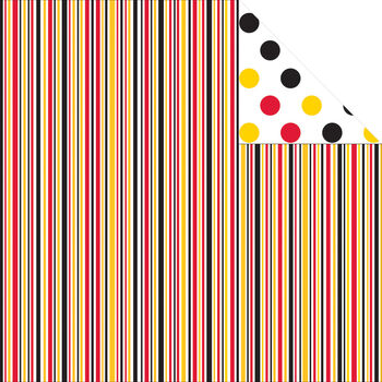 Reminisce Real Magic Dream Stripe Double-Sided Cardstock 12''x12''