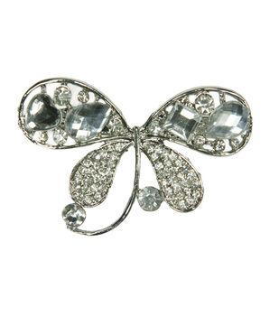 Laliberi Rhinestone Pin - Butterfly Gem in Silver