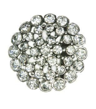 Laliberi Rhinestone Pin - Crystal Burst in Silver