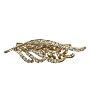 Laliberi Rhinestone Leaf Gold Hair Clips