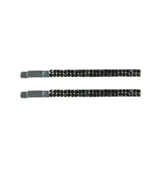 Laliberi Rhinestone Hair Clips - Black Crystal