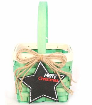 Star Square Mini Basket With Handle