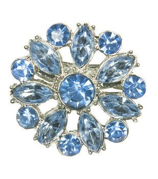 Laliberi Winter Knit Small Snowflake Accent Brooch In Light Blue