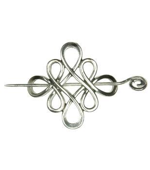 Laliberi Winter Knit Shawl Closure Accent Metal Circle