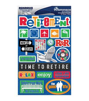 Reminisce Signature Dimensional Stickers Retirement
