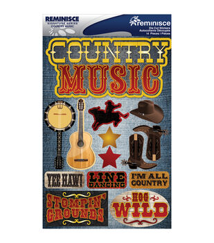 Reminisce Signature Dimensional Stickers Country Music