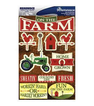 Reminisce Signature Dimensional Stickers Farm