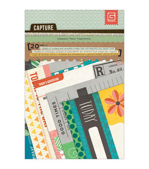 "Capture Snippets Double-Sided Cardstock Cards 4""X6""-10 Designs/2 Each"