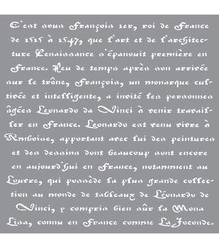 Decoart French Scroll - American Decor Stencil