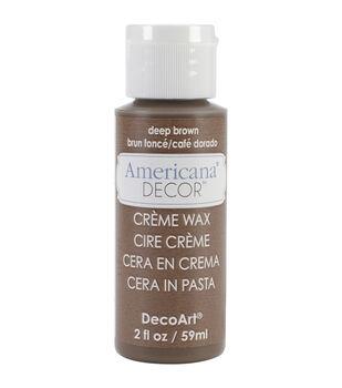 Americana Creme Wax 2oz-Deep Brown