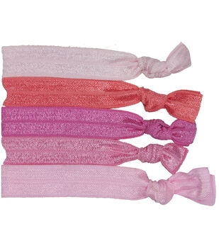 Laliberi Elastic Hair Tie Set - Light Pink Assortment