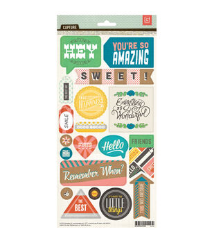 "Capture Cardstock Stickers 5.75""X12""-Title"