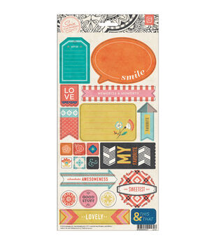 "Spice Market Cardstock Stickers 5.75""X12""-Title"