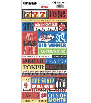 Reminisce Signature Series Travel Quote Stickers-Vegas