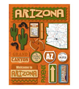 Reminisce Dimensional Stickers-Arizona