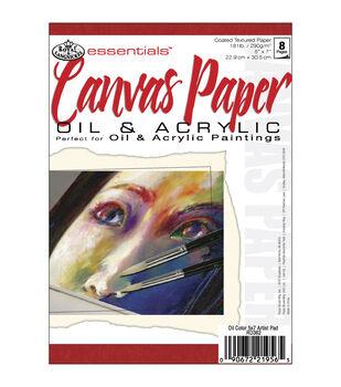 "Royal Brush Essentials Canvas Paper Pad 5""X7""-8 Sheets"