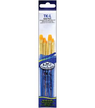 Brush Set Value Pack Taklon 5/Pkg-Shader 2,4,6,8,10