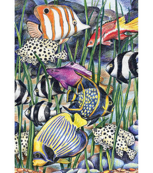Royal Brush 5''x7'' Colour Pencil By Number Kit-Underwater Life