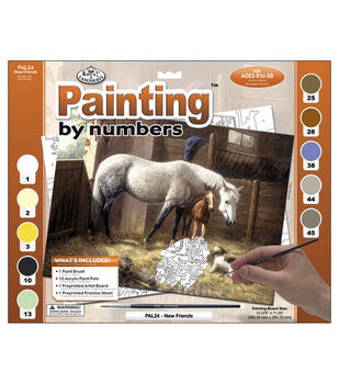 15-3/8''x11-1/4'' Adult Paint By Number Kit-New Friends