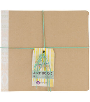 "Bloom 3-Ring Binder Art Journal 8""X8""-2 Inner Pockets & 38 Double-Sided Pages"