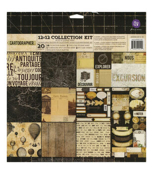 "Cartographer Collection Kit 12""X12"" 20/Sheets-"