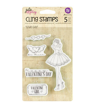 Prima Marketing Julie Nutting Mixed Media Love Day Cling Rubber Stamps