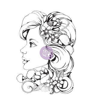 Prima Marketing Bloom Girl Sophie Cling Rubber Stamps