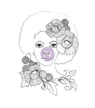 Prima Marketing Bloom Girl Joy Cling Rubber Stamps